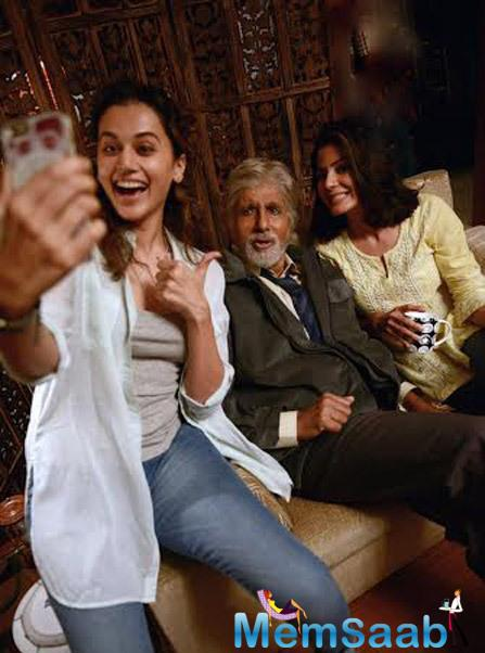 Crack out the pic, where Amitabh Bachchan and Taapsee Pannu spent a quality time on the sets of Shoojit  Sircar's next.