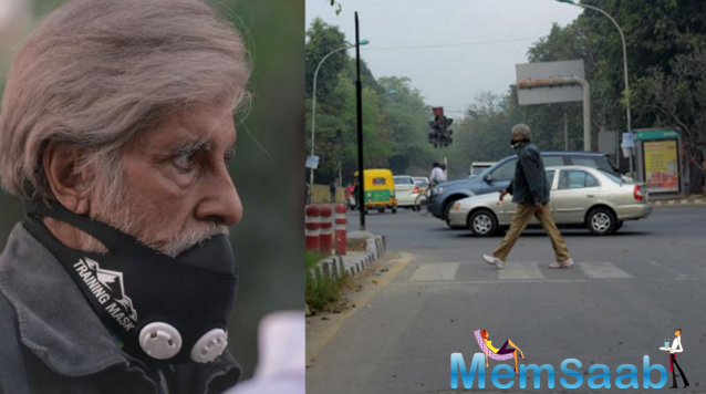 Now this is something you don't see too often. Amitabh Bachchan, who is shooting for his next film directed by Anirudha Roy Chaudhary, in Delhi, walked about the city stress, completely unnoticed!