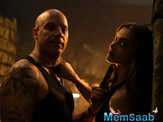 Deepika Padukone, who has exstremly busy with xXx: The Return Of The Xander Cage, is spreading happiness on the set.