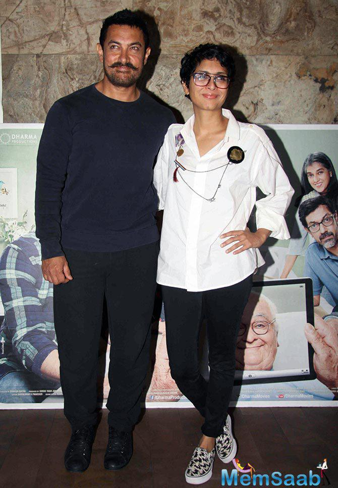 Recently Kiran Rao said, I really proud of Aamir's Dangal at the screening of 'Kapoor & Sons' where Aamir was also present.