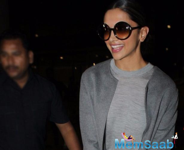 Deepika Padukone, who engaged busy with her Hollywood project these day, returned to Mumbai late last night to attend her friend's wedding .