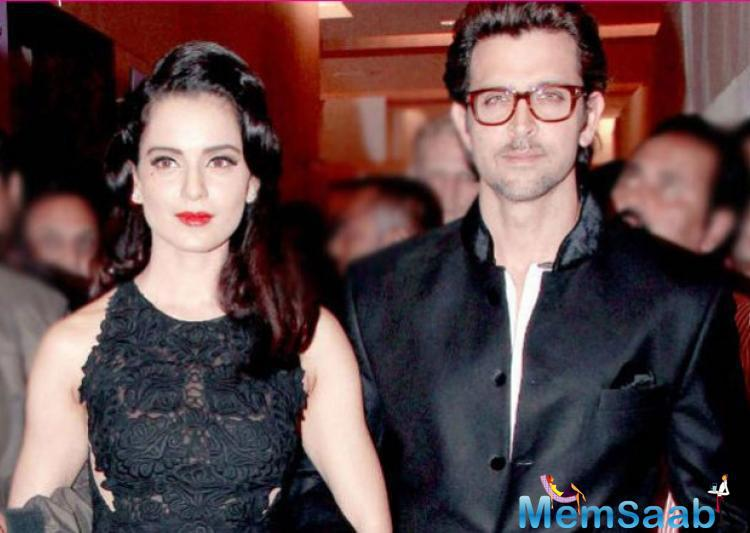 Both Hrithik Roshan and Kangana are out of Mumbai and are busy with their work commitments.