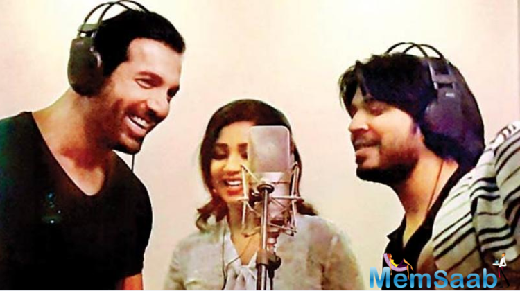 John Abraham recently recorded the unplugged version of 'Alfazon Ki Tarah', a romantic song, composed by Ankit Tiwari for 'Rocky Handsome'.