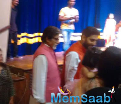 Abhishek and wife Aishwarya Rai Bachchan were at the four-year-old daughter Aaradhya's Annual Day in school.