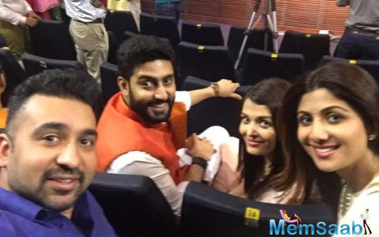 Proud parents pose together at their kids' annual day function, look here,  Abhishek and Aishwarya took a selfie with the Kundras.