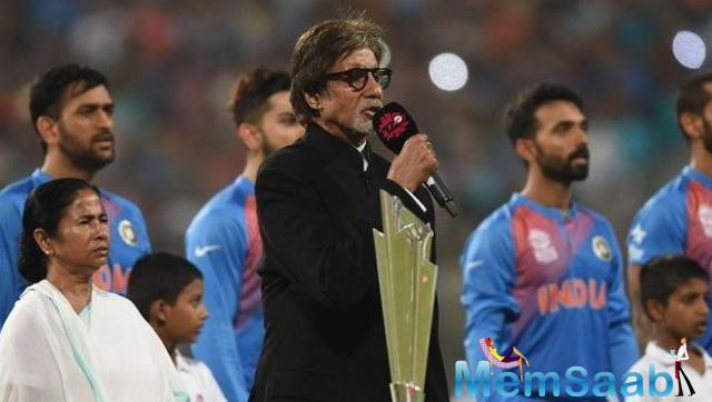 Take a look, Amitabh Bachchan sang the national anthem at Eden Gardens in Kolkata before the India-Pak match.