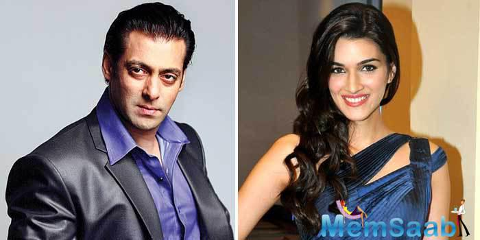 """A source said, """"Salman Khan  heard the script and was sure that he wanted to make the film. And he is considering Kriti Sanon but nothing has been finalised till now."""""""
