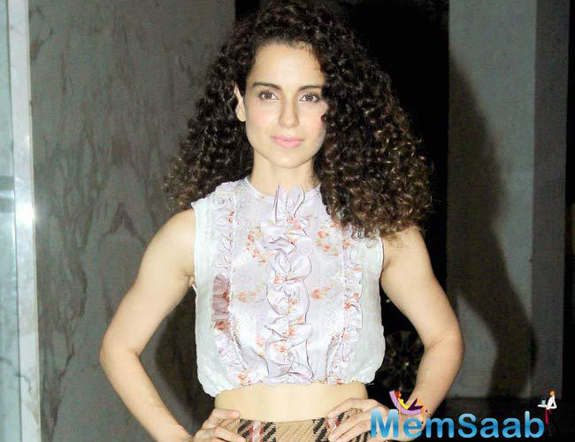 Kangana, who is currently shooting for Vishal Bharadwaj's Rangoon in Arunachal Pradesh was back in Mumbai on Tuesday to promote a brand that she endorses.
