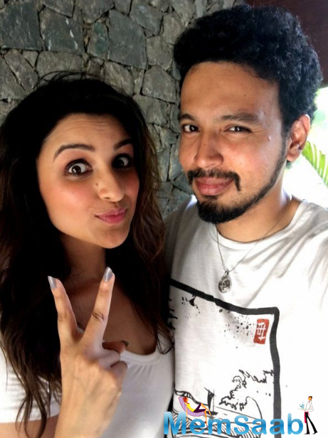 Parineeti Chopra posted a image with photographer Rohan Shrestha and wrote,