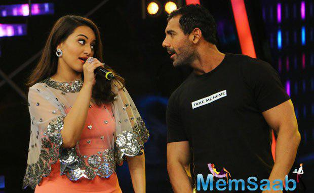 John Abraham, who currently busy with the promotion of Rocky Handsome, said Sonakshi is fearless, I am proud of her