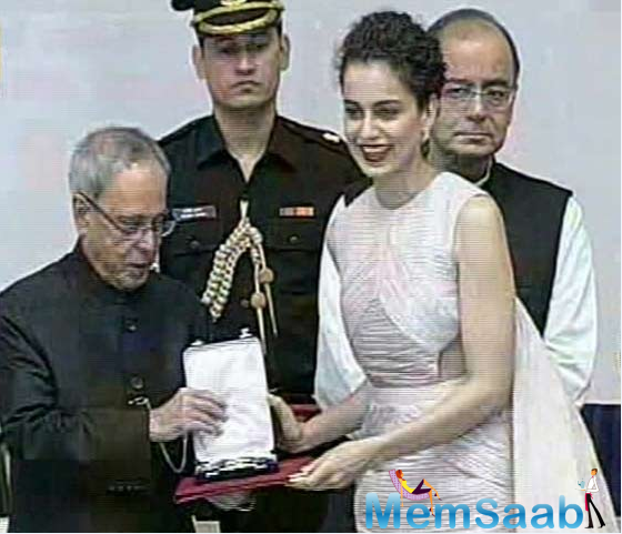 The 63rd National Film Awards are back and they mark special celebrations for actress Kangana Ranaut as she has been awarded the Best Actress title for the second time in a row.