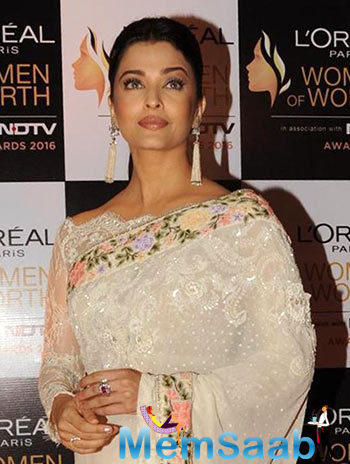 Actress Aishwarya Rai Bachchan, who assisted the Women of Worth Awards in Mumbai on Monday, spoke about her four-year-old daughter Aaradhya, describing her as 'my world'.