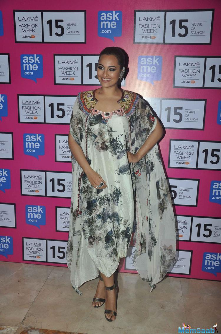 Sonakshi Sinha said, 'Acting is a profession which is co-related to fashion, it is a piece of my daily task. I may go back to designing some time in future'.