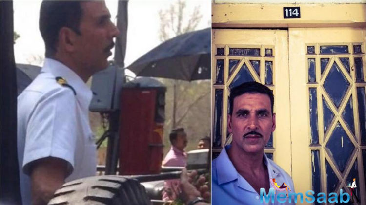 The 48-year-old actor Akshay  took to his Instagram account and posted a picture of himself that was captioned. Revisiting history while shooting for Rustom
