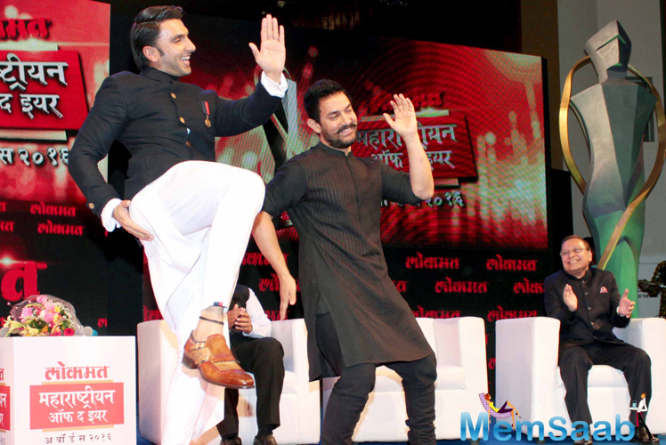 Ranveer was interacting with Aamir Khan during a session on the sidelines of Lokmat's
