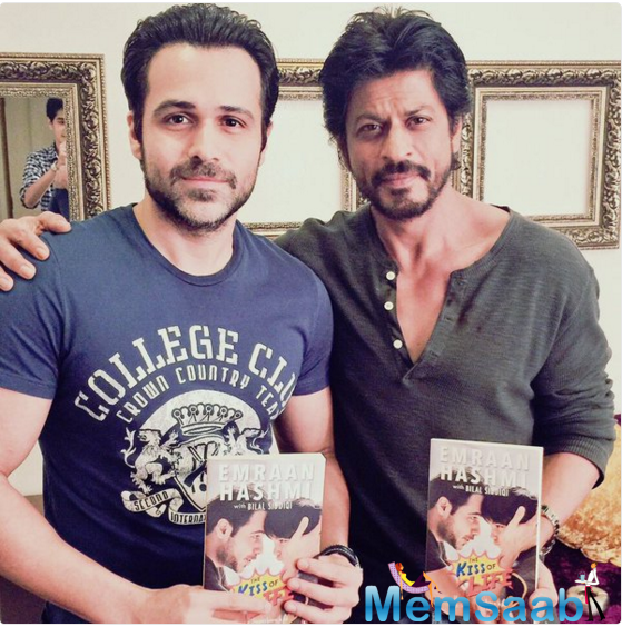 Shah Rukh Khan, 51, and Emraan, 37, recently met and posed for pictures holding copies of the book.