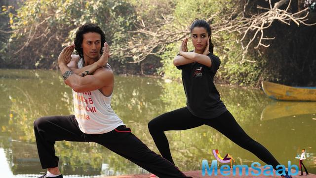 Tiger and Shraddha are seen doing the stunts all by themselves, which is the action sequence of their upcoming movie Baaghi.
