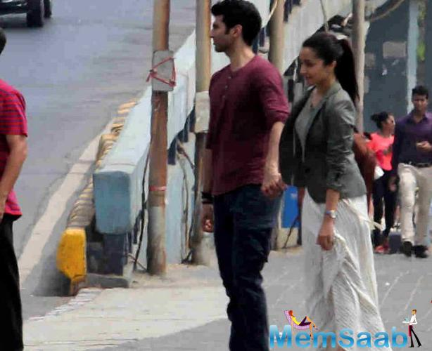 Aditya Roy Kapur and Shraddha Kapoor have been shooting for Shaad Ali's OK Jaanu in Mumbai over the past few days.
