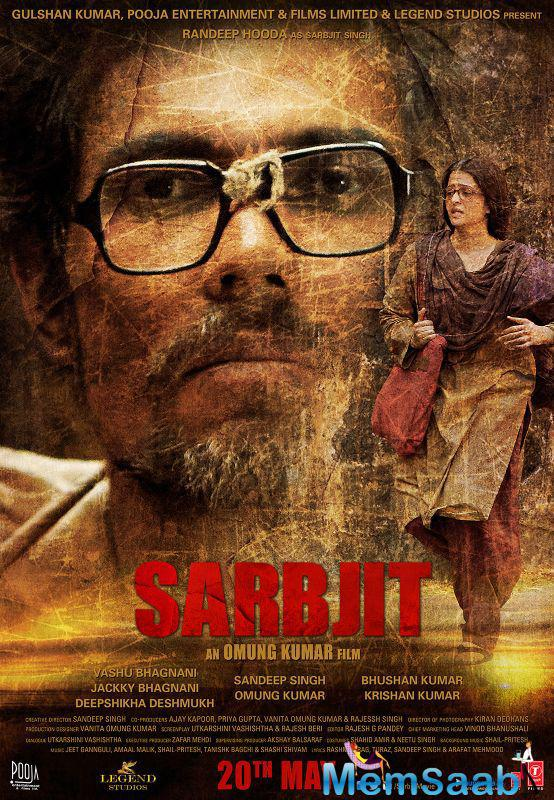 After getting immense accolades for their first official poster, Sarbjit makers released their second poster.