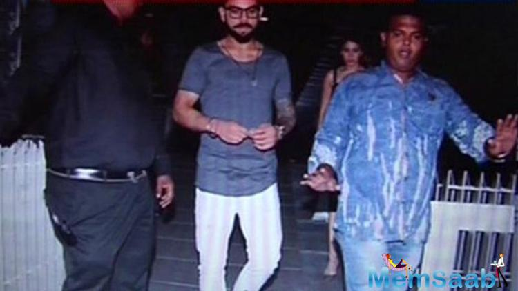 Virat Kohli, who was declared Man of the Tournament at the just concluded T 20 World Cup, looked chilled out as he made his way out of the restaurant with Anushka Sharma