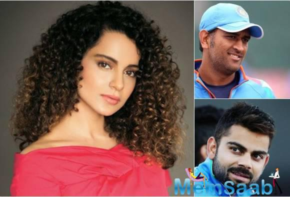 If sources to be believed, a major casting coup will be soon forced off, starring: Powerhouse Kangana Ranaut & Tema India's hottest men, MS Dhoni & Virat Kohli.