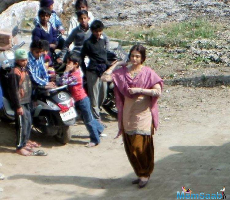 We were shooting for a crucial sequence in Punjab, where Aishwarya had to run on a barren road.