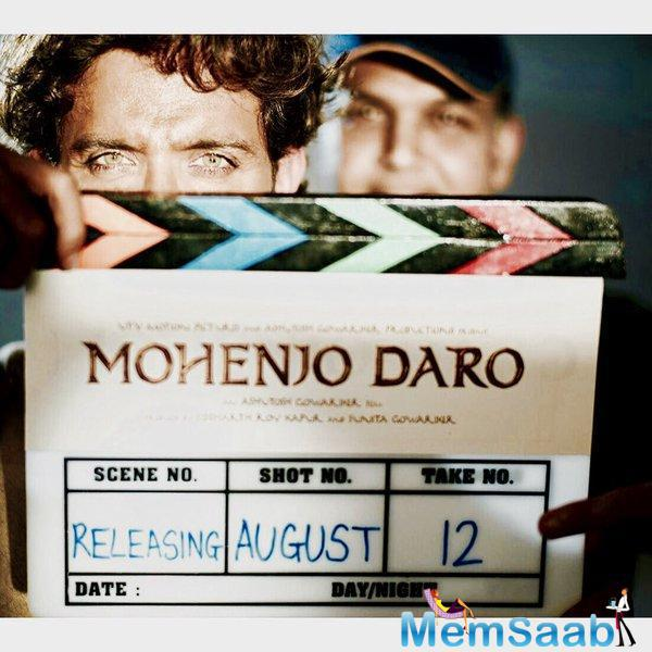 Hrithik Roshan took to Twitter to announce the release date as well as wrap on the Ashutosh Gowariker-directed project 'Mohenjo Daro'.