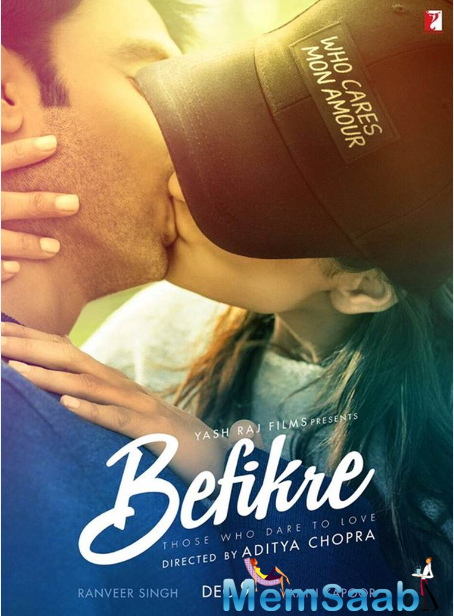 he first look of actor Ranveer Singh and Vaani Kapoor starrer Befikre is out and it's sizzling hot