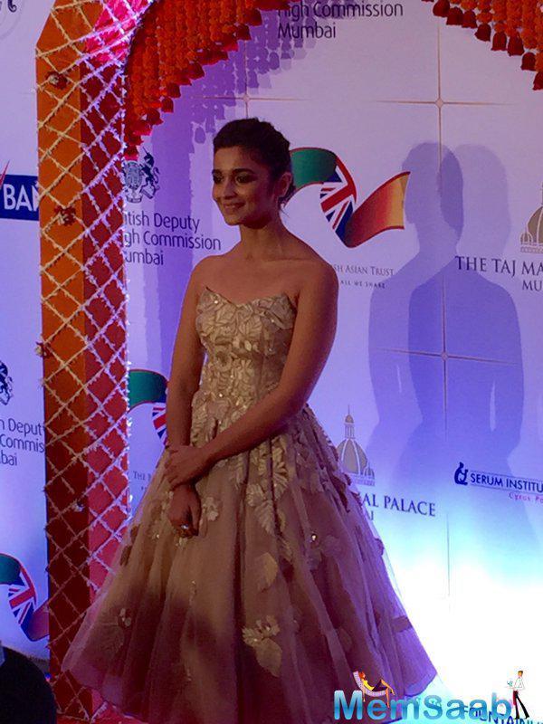Bollywood cutie pie Alia Bhatt has an attendance at the Royal gala dinner