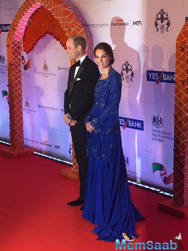 Kate dazzles in beaded gown as she and William arrive at Taj Mahal Hotel for glittering gala featuring Indian singers and dancers