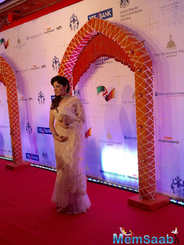 Playback Singer Kanika Kapoor arrived in style for Will And Kate's Bollywood Gala