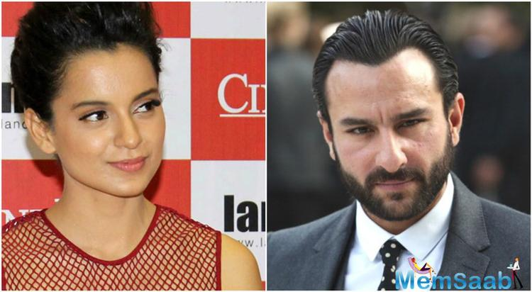 Saif and Kangana are currently charging for their new film Rangoon, which directed by Vishal Bhardwaj, and also star Shahid Kapoor.