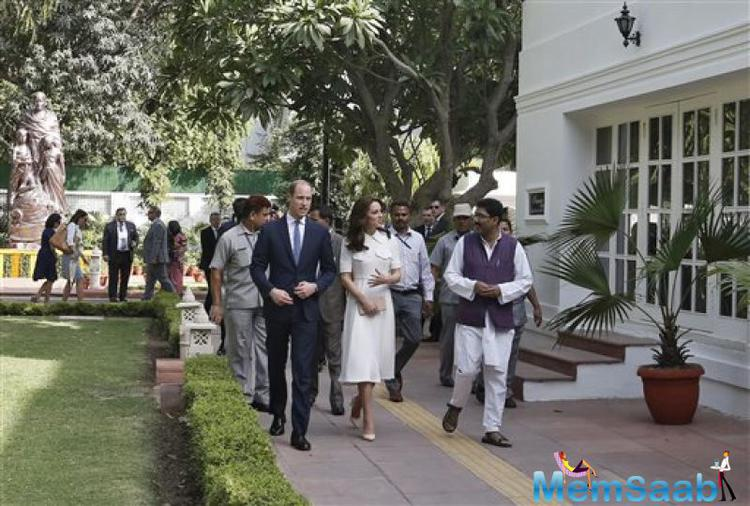The royal couple then toured a museum near the spot where Gandhi was assassinated in 1948.