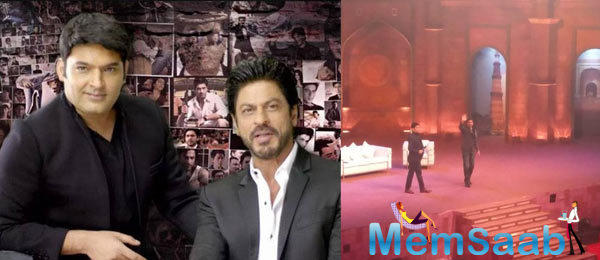 Best comedian Kapil Sharma, who will begin his new show on Sony channel  titled 'The Kapil Sharma Show', shoots a special episode with SRK in Delhi.