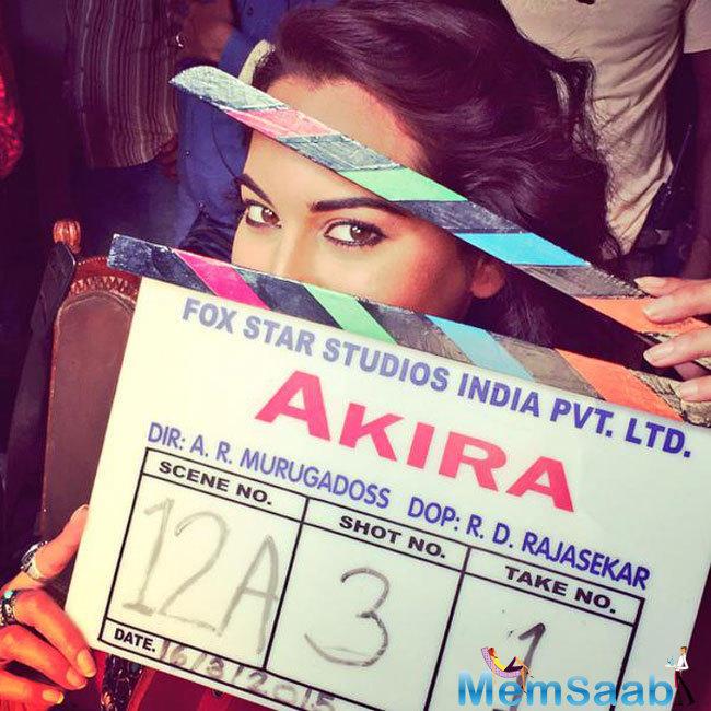 Sonakshi Sinha busy in working on her first heroine-oriented movie, Akira