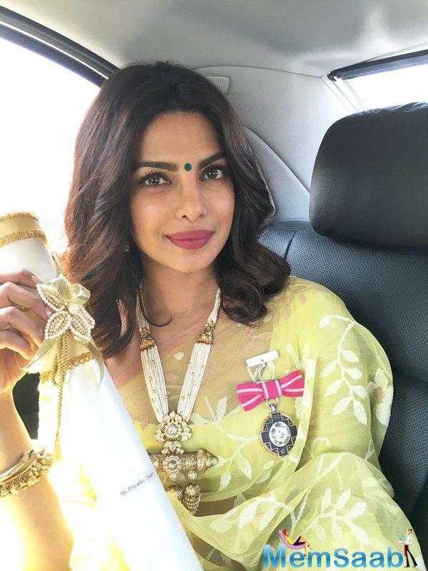 Bollywood's global icon Priyanka Chopra has been awarded Padma Shri for taking Indian cinema and talent to another level.