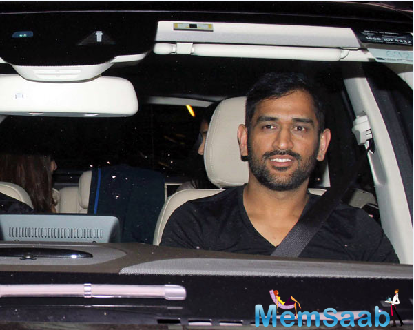 On Monday night, Mahendra Singh Dhoni along with his wife paid Salman Khan a visit at his residence.
