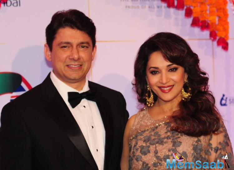 Madhuri Dixit was joined by her husband doctor Sriram Nene for the event.