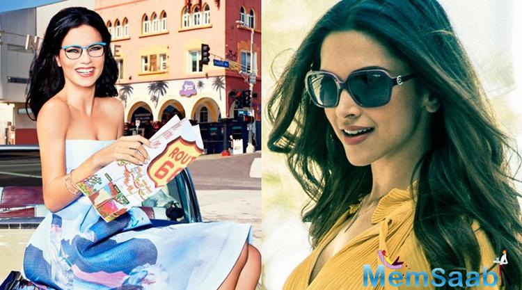 Deepika Padukone has teamed up with Brazilian supermodel Adriana Lima and Chinese actress Liu Shishi for the communication campaign of Vogue Eyewear Spring-Summer SS 2016.