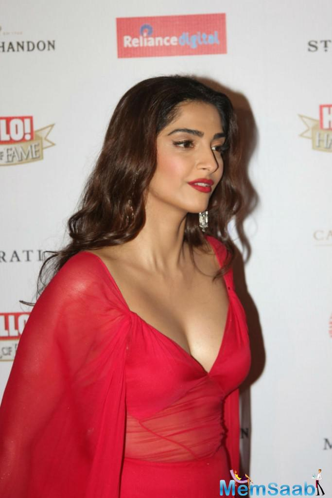 Sonam adds that she enjoys being an actor, except when it comes to promoting a film. During promotions, you are constantly placing yourself out on that point.