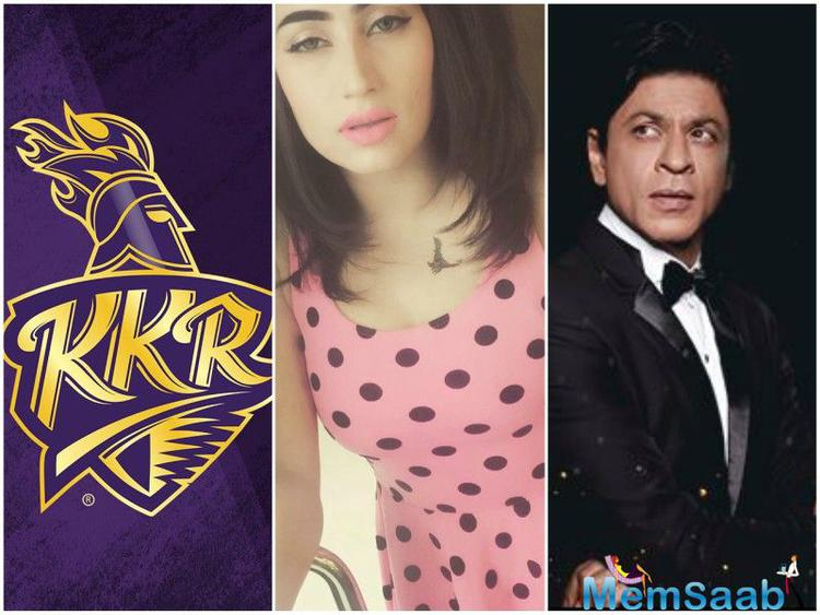 Qandeel posted a video where she has a special message for King Khan. The leggy lass has promised that if KKR wins the ongoing edition of IPL, she will celebrate the team's victory in her own unique style
