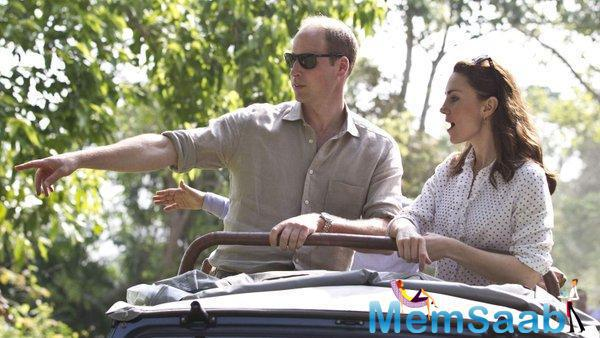 The Duke and Duchess of Cambridge toured Kaziranga National Park on Wednesday and excitedly clicked photographs when they marked one-horned Rhinos, Elephants, Swamp Deer and other wild animals during their two-hour safari.
