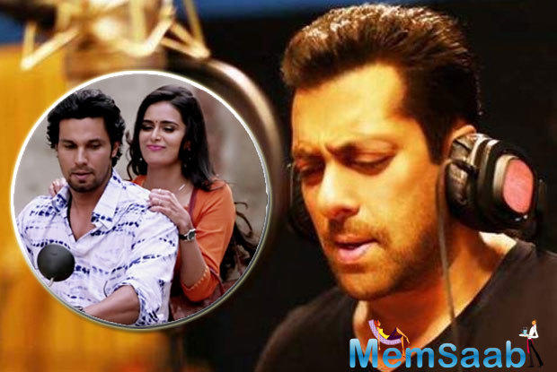It is not happening. It was very kind of Salman Khan to say that he will sing a song for me in film, but its release date was advanced, so it is not happening due to lack of time,