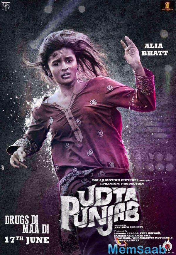 See the first look poster of Alia Bhatt from Udta Punjab,it will shock you, Alia is bruised and distressed in the first look poster