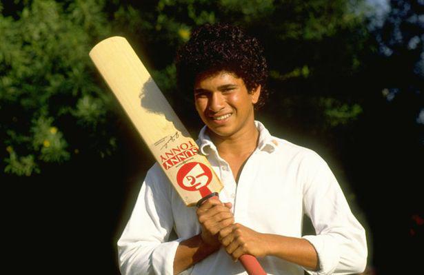 Here a pic a teen age Sachin Tendulkar before the Test series against Pakistan in India