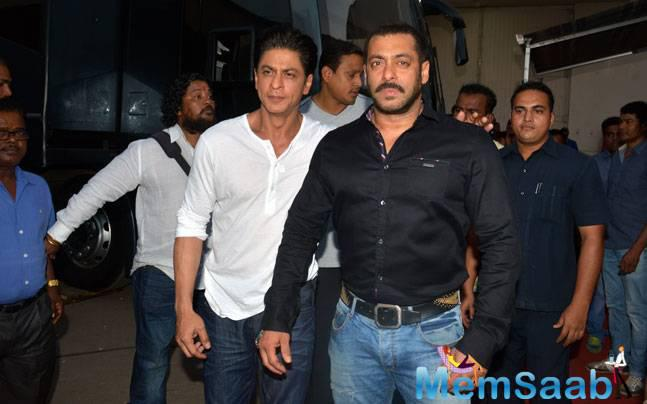 As far as Shah Rukh Khan and Salman Khan coming together is concerned, apparently prolific producer turned director Sajid is scheduling to cast them together in his second directorial film.