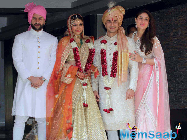 Kunal and Soha married in January 2015 after a living-in together since 2013