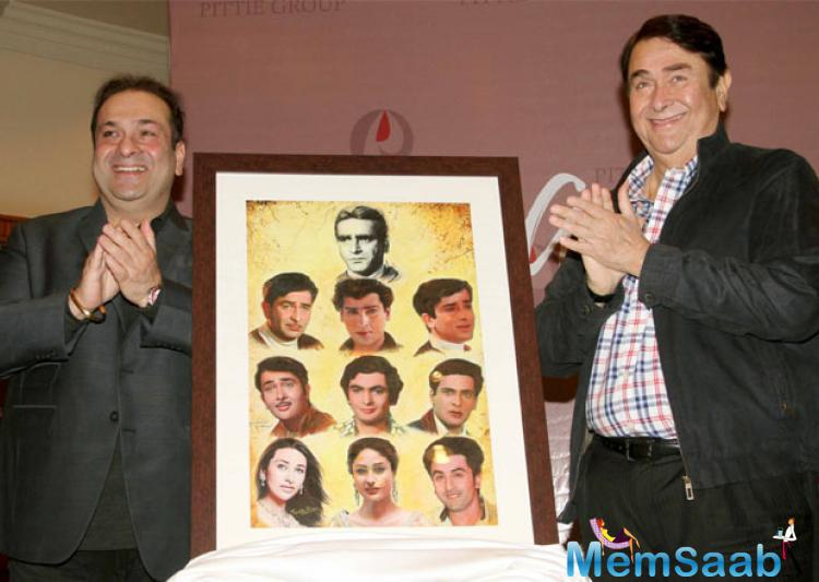 Randhir Kapoor at the launch of Geeta Dass' book Kal Aaj Aur Kal. The book boasts of paintings created by several members of the Kapoor family.