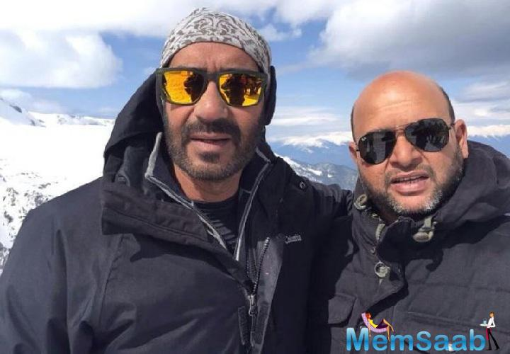 Ajay is multi-tasking and playing many characters at the same time, which is quite difficult as well as praiseworthy as he is producing, conducting and starring in the movie.