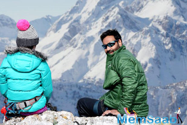 How the action star Ajay Devgn's fight to the deadly climate of Bulgarian Mountains. The actor and his crew were shooting for the film at a height of a staggering 2914 meters above sea level.